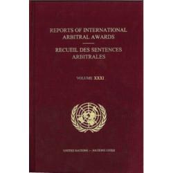 Reports of international arbitral awards: Vol. 31