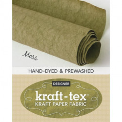 kraft-tex (R) Roll Moss Hand-Dyed & Prewashed: Kraft Paper Fabric