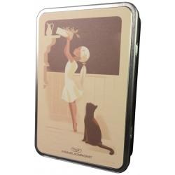 Kat-pige-dåse med karameller, 330g
