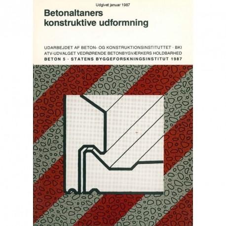 Betonaltaners konstruktive udformning