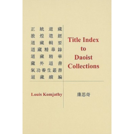 Title Index to Daoist Collections