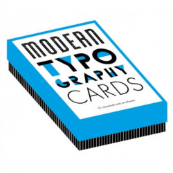 Modern Typography Notecards: 12 Notecards and Envelopes