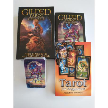 Tarot for begyndere DK sæt (DK bog + Eng. bog + kort + stor box)