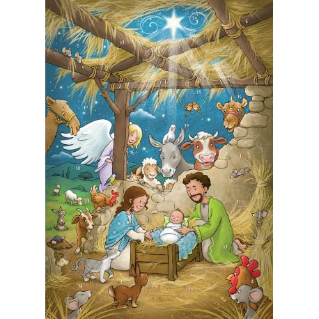 Juleglæde i Betlehem: Julekalender, magnetisk