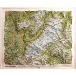 Massif Mont-Blanc Relief