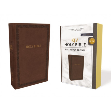 KJV, Holy Bible, Soft Touch Edition, Leathersoft, Brown, Comfort Print: Holy Bible, King James Version