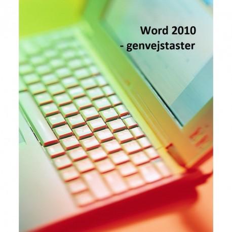 Word 2010 - genvejstaster