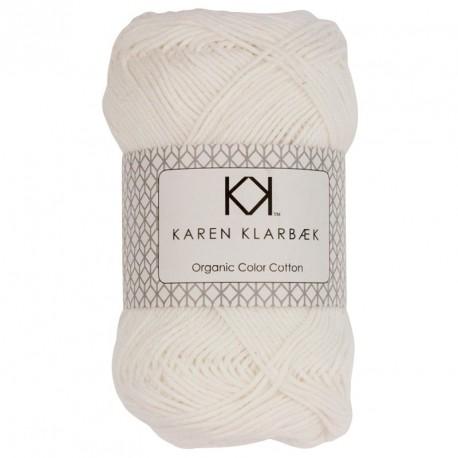 8/4 Optisk hvid - KK Color Cotton økologisk bomuldsgarn fra Karen Klarbæk