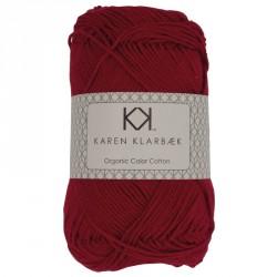 8/4 Julerød - KK Color Cotton økologisk bomuldsgarn fra Karen Klarbæk