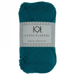 8/4 Petrol blå - KK Color Cotton økologisk bomuldsgarn fra Karen Klarbæk
