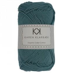 8/4 Mellem Petrol Blå - KK Color Cotton økologisk bomuldsgarn fra Karen Klarbæk