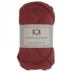 8/4 Murstensrød - KK Color Cotton økologisk bomuldsgarn fra Karen Klarbæk