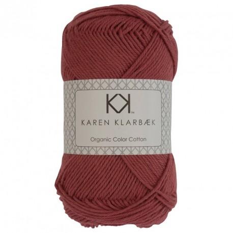 8/4 Lys murstensrød - KK Color Cotton økologisk bomuldsgarn fra Karen Klarbæk