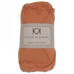 8/4 Mørk murstensrød - KK Color Cotton økologisk bomuldsgarn fra Karen Klarbæk