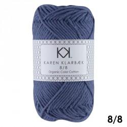 8/8 Jeansblå - KK Color Cotton økologisk bomuldsgarn fra Karen Klarbæk