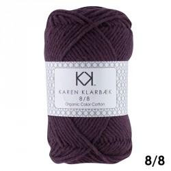 8/8 Falmet jeansblå - KK Color Cotton økologisk bomuldsgarn fra Karen Klarbæk