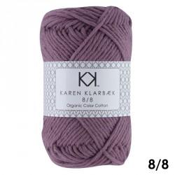 8/8 Aubergine - KK Color Cotton økologisk bomuldsgarn fra Karen Klarbæk