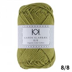 8/8 Sennepsfarvet - KK Color Cotton økologisk bomuldsgarn fra Karen Klarbæk