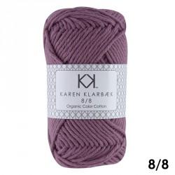 8/8 Blommefarvet - KK Color Cotton økologisk bomuldsgarn fra Karen Klarbæk