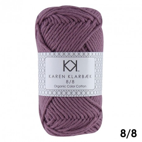8/8 Lys lilla - KK Color Cotton økologisk bomuldsgarn fra Karen Klarbæk