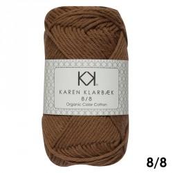 8/8 Brændt orange - KK Color Cotton økologisk bomuldsgarn fra Karen Klarbæk