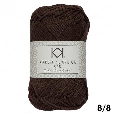 8/8 Brun sukker - KK Color Cotton økologisk bomuldsgarn fra Karen Klarbæk