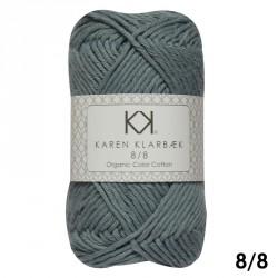 8/8 Lys blygrå - KK Color Cotton økologisk bomuldsgarn fra Karen Klarbæk