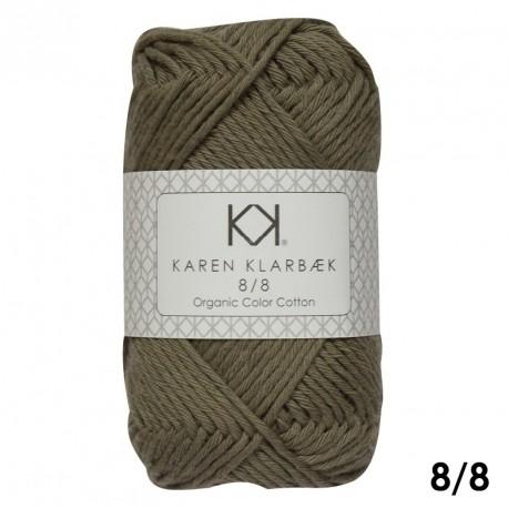 8/8 Mørk kombugrøn - KK Color Cotton økologisk bomuldsgarn fra Karen Klarbæk