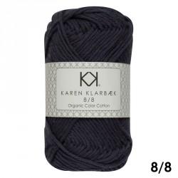 8/8 Marineblå - KK Color Cotton økologisk bomuldsgarn fra Karen Klarbæk