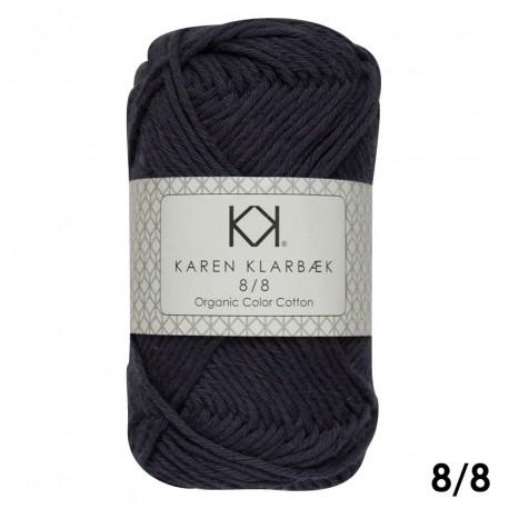 8/8 Frostgrå - KK Color Cotton økologisk bomuldsgarn fra Karen Klarbæk