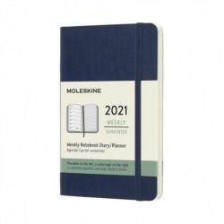 Moleskine 2021 12-Month Weekly Pocket Softcover Diary: Sapphire Blue