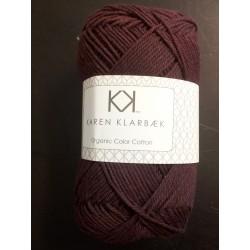 8/4 Aubergine - KK Color Cotton økologisk bomuldsgarn fra Karen Klarbæk
