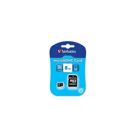 Verbatim microSDHC Class 4 + SD adapter 8GB