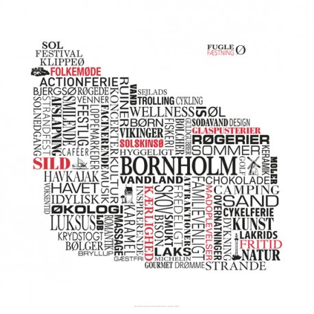 Associationsplakat Bornholm 50x50 cm