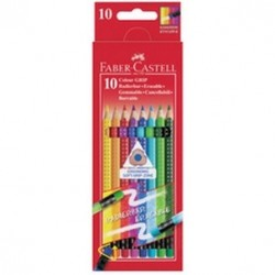 Farveblyant: Erasable Faber Castel 10 stk
