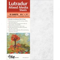 "Lutradur (R) Mixed Media Sheets: 10 Sheets, 8 1/2"" x 11"" * 5 Regular (70 Gram) * 5 Heavyweight (100 Gram)"