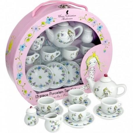 Tesæt i porcelæn - Prinsessen på ærten