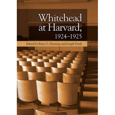 Whitehead at Harvard, 1924-1925
