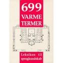 699 varme termer: leksikon til sprogkundskab