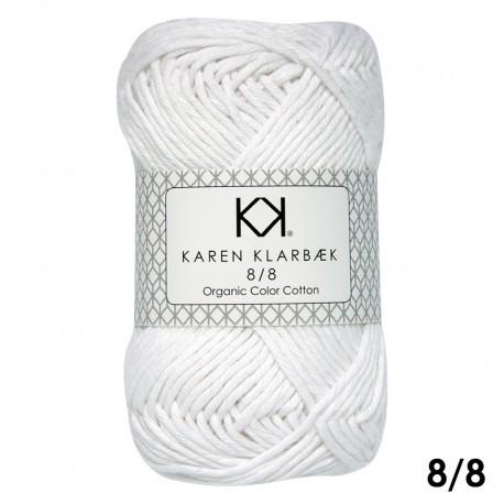 8/8 Bleached White - KK Color Cotton økologisk bomuldsgarn fra Karen Klarbæk