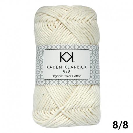 8/8 Nature White - KK Color Cotton økologisk bomuldsgarn fra Karen Klarbæk