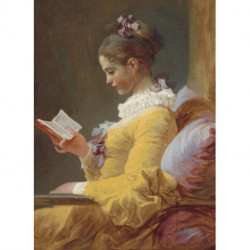 A Young Girl Reading Notebook