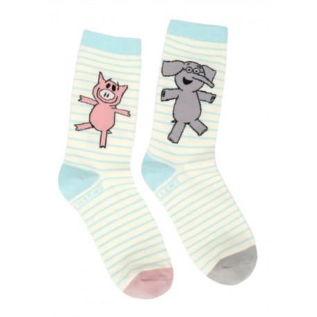 Elephant Piggie Socks Lrg
