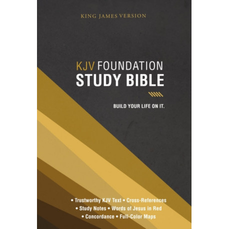 KJV, Foundation Study Bible, Hardcover, Red Letter: Holy Bible, King James Version