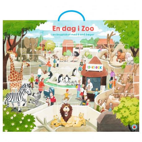 En dag i Zoo: bogplakat med 8 Snip Snap Snude-bøger