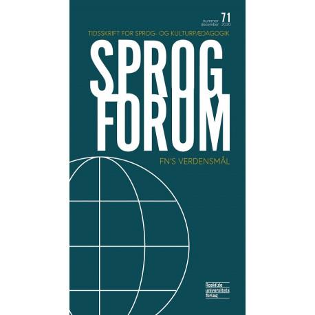 Sprogforum 71: FN's verdensmål: Sprogforum 7