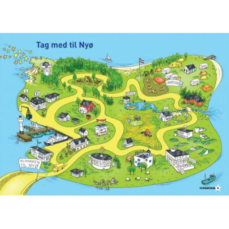 Tag med på Nyø. Postkort (10 stk.): Stjerneskud 0