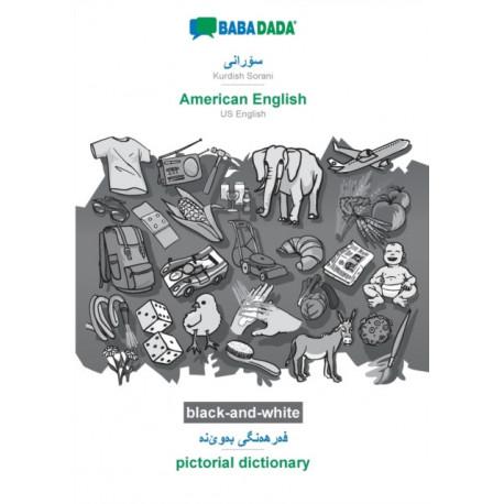 BABADADA black-and-white, Kurdish Sorani (in arabic script) - American English, visual dictionary (in arabic script) - pictorial dictionary: Kurdish Sorani (in arabic script) - US English, visual dictionary