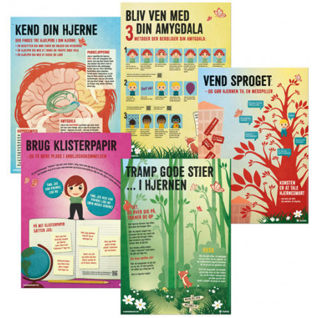 Plakater til Hjernesmart pædagogik: 5 stk. A2