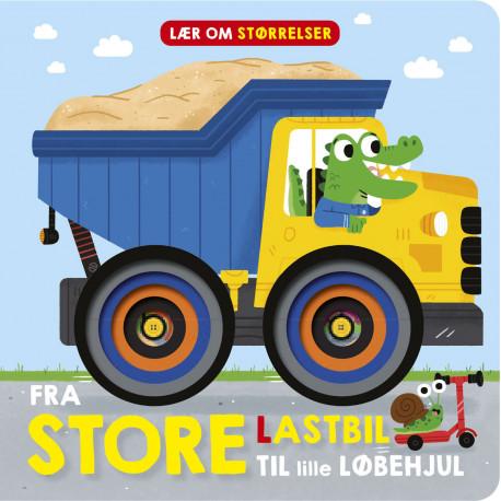 Fra store lastbil til lille løbehjul: lær om størrelser